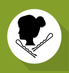 hair salon design hairdressing icon vector image