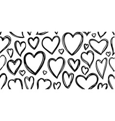 heart love valentines day seamless pattern vector image