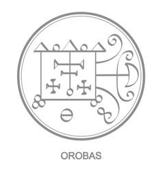 Icon with symbol demon orobas vector
