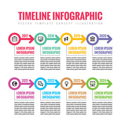 infographic business concept in flat style vector image