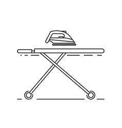 ironing clothes by iron vector image