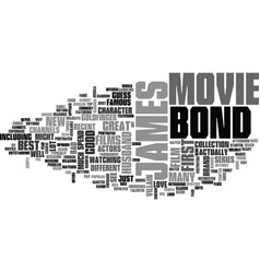 James bond movie text background word cloud vector