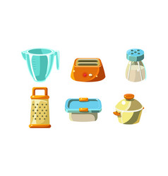 kitchen utensils set cooking tools measuring cup vector image