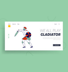 legionary soldier roman warrior gladiator vector image