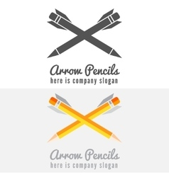 Logo badge label logotype elements with pencil vector