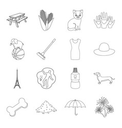 medicine circus travel and other web icon in vector image