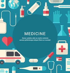 Medicine Concept Flat Style with Place for Text vector image