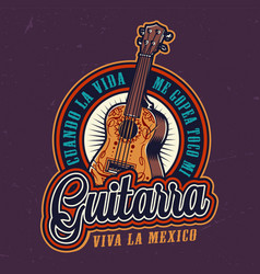Mexican day dead colorful label vector