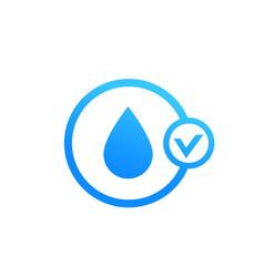 moistening icon on white vector image
