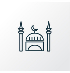 mosque icon line symbol premium quality isolated vector image