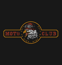 motorcycle club vintage colorful logo vector image