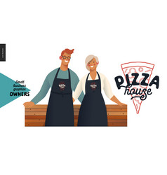 Owners - small business graphics - pizza house vector