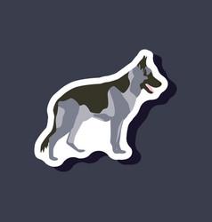 Paper sticker on stylish background german vector