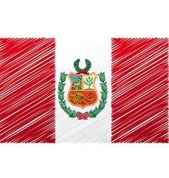 Peruvian flag vector