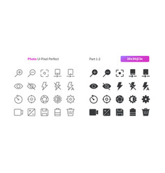 Photo ui pixel perfect well-crafted thin vector