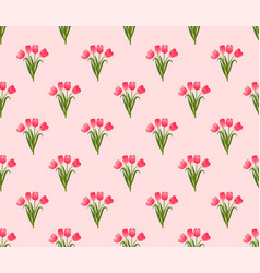 pink tulip on pink background vector image