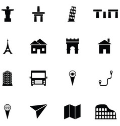 Place icon set vector