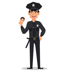 police officer policeman vector image