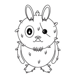 rabbit-character vector image
