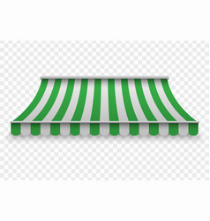 realistic outdoor awning vector image