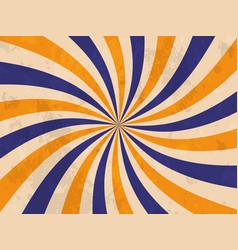 retro banner sunburst background vector image