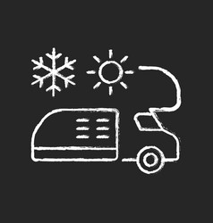 Rv air conditioning and heating chalk white icon vector