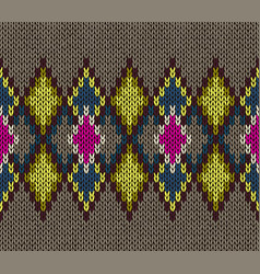 seamless knitted pattern fashionable youth style vector image
