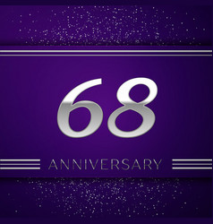Sixty eight years anniversary celebration design vector