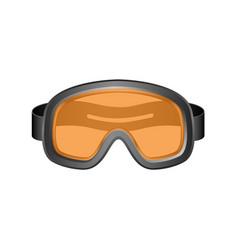 ski sport goggles in dark design vector image