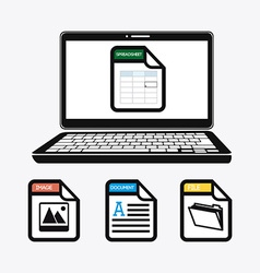 Spreadsheet design vector image