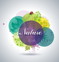 Spring or Summer Floral Background vector image