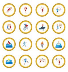 Summer sport cartoon icon circle vector