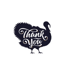 Turkey thank you lettering typography vector