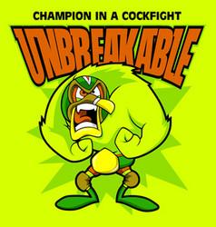 unbreakable vector image