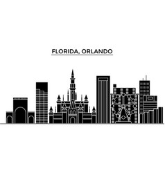 Usa florida orlando architecture city vector