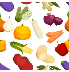 vegetables healthy tomato carrot potato vector image