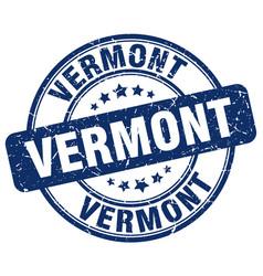 Vermont blue grunge round vintage rubber stamp vector