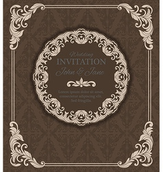 Vintage invitation border and frame template vector image