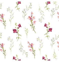 Watercolor snapdragons pattern vector