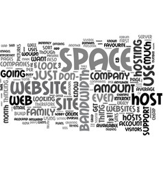 What to look for in a web host text word cloud vector
