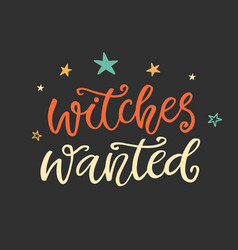 witches wanted halloween party poster vector image