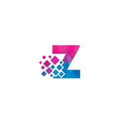z letter pixel logo icon design vector image
