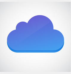 cloud 3d glossy icon symbol vector image