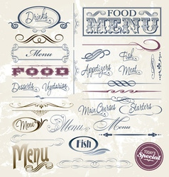 Menu Elements vector image