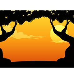 Silhouette view vector image vector image