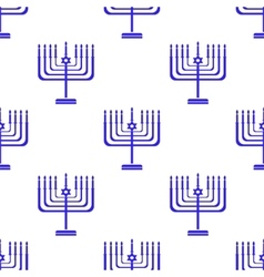 Silhouettes of Menorah Seamless Pattern vector image