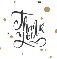 Calligraphy with gratitude vector image