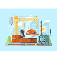 Construction site design concept vector image