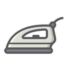electric iron colorful line icon household vector image vector image