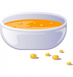 hot soup vector image vector image